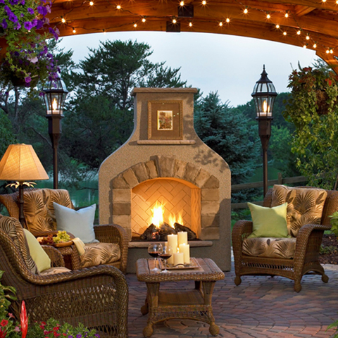 Sonoma Outdoor Gas Burning Fireplace - Chimney Cricket