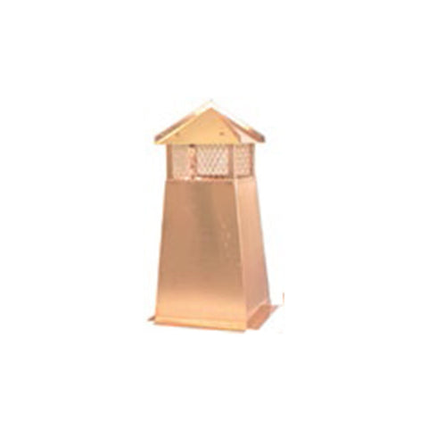 Square Copper Chimney Pots - Chimney Cricket