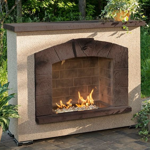 Stone Arch Gas Fireplace - Chimney Cricket