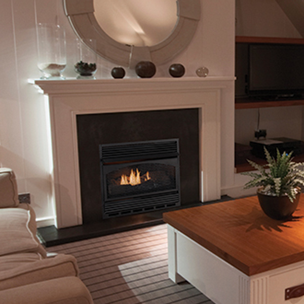 The VCM3026 Vent-Free Gas Fireplace is sleek