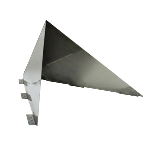 Ventis Stainless Steel Snow Wedge Chimney Cricket