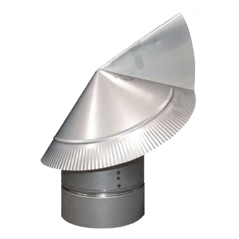 Wind Directional Flue Cap (non air cooled) Without Screen - Chimney Cricket