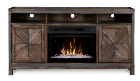DIMPLEX Wyatt Media Console Electric Fireplace 253-GDS25LD-1589BY - Chimney Cricket