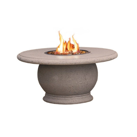 Chat Height Amphora  Firetable with Concrete Top,  Café Blanco Finish - Chimney Cricket