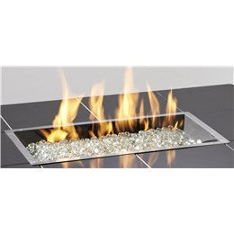 DIY - OG Rectangle Crystal Fire Burner SS (DIY - 183-CF-1224-) - Chimney Cricket