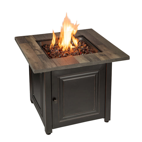 """Burlington"" LP Gas Outdoor Fire Pit - Chimney Cricket"