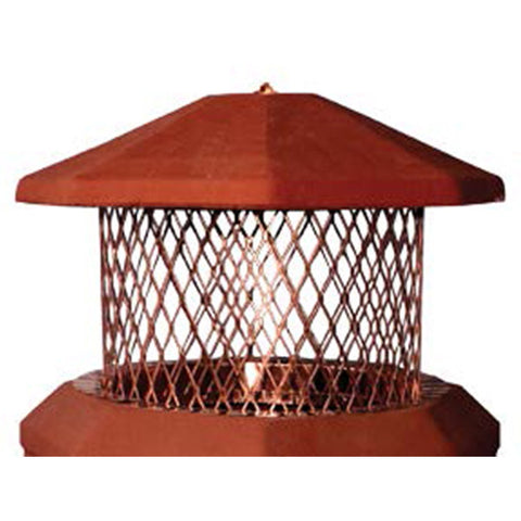 Pot Toppers Copper Round I.D. With Clay Octagon Lid - Chimney Cricket