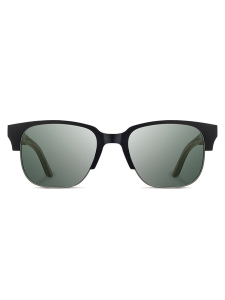 Shwood Eyewear Newport 52mm Polarized - Black Titanium / Walnut