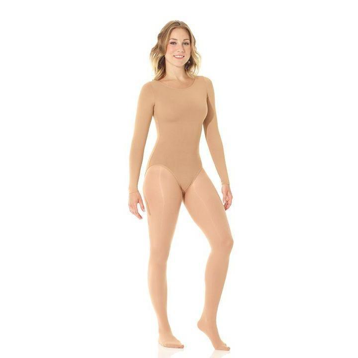 Mondor 11811 Skin Colour Bodysuit with sleeves Dance Figure Skating