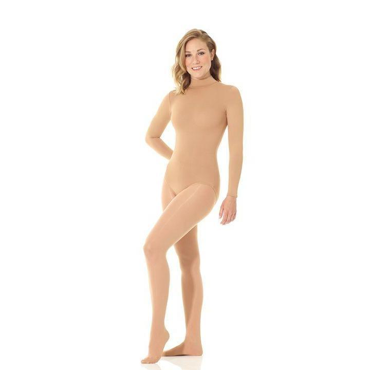 Mondor 11812 Bodysuit Skin Tone Leotard Mock Neck Dance Figure Skating