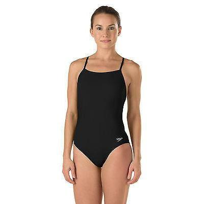 Speedo One Piece Swimsuit Black One Fresh Back Endurance Lite Size 10/36