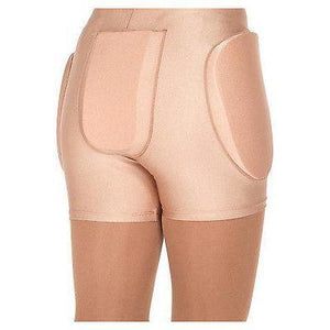 New Figure Skating Protective Brief Shorts Foam Padded  Crash Pads Avail Black & Skin Tone