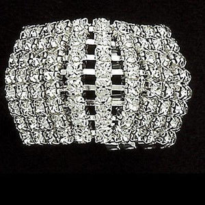 NEW DANCE PONYTAIL HOLDER8 rows with 15 rhinestones per row.