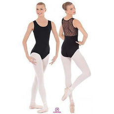 NEW DANCE BODYSUIT LEOTARD Eurotard BLACK Микрофибра Diamond Mesh для взрослых, средний