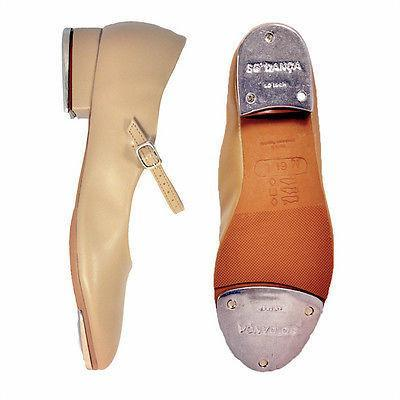 New So Danca Tap Shoes TA06 Buckles Children Size Beginners Caramel Colour Stock
