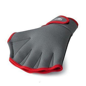 New Speedo Aquatic Fitness Gloves Grey Neoprene Red Size Medium