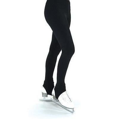 Figure Skating Pants Black Stirrups Lycra 319
