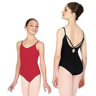 NEW DANCE BODYSUIT LEOTARD So Danca BLACK Microfiber Style AS D-612