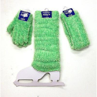 New Figure Skating  Gloves Legwarmers & Headband Set Lime