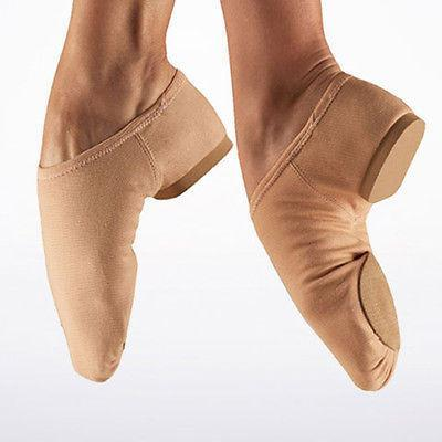 New JAZZ Shoes SPLIT SOLE  Stretch NUDE COLOUR  Canvas JZ75 Select Size