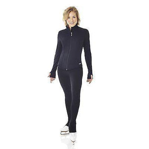 New Figure Skating Jacket MONDOR 4482 Black Polartec Thumbholes Youth & Adult Sizes