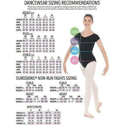 NEW DANCE BODYSUIT LEOTARD Eurotard BLACK Microfiber Diamond Mesh Adult Medium
