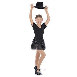 NEW DANCE  Eurotard Sparkle Short Sleeve Leotard with Skirt 02467 SMALL