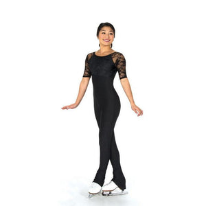 Jerrys 294 Figure Skating Catsuit Unitard Black Lace Made on Order