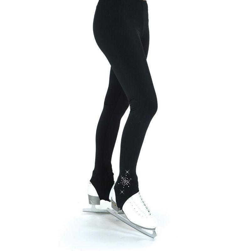 New Jerry Figure Skating Pants Stirrup 384 Crystal Made on Order Youth & Adult