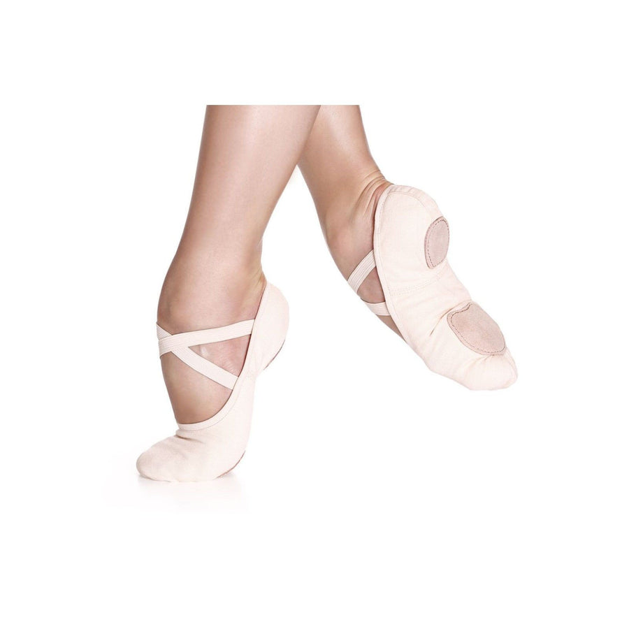 New So Danca Ballet Slippers sd16 Light Pink Stretch Canvas No Drawstring