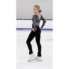 Jerrys Figure Skating Catsuit Unitard 287 Ice Crystals Colour  Royal