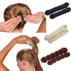 Bun Maker - Brown, Black or Beige in  9.5'' or 7.5''