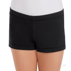 Eurotard Dance  Shorts Girls Booty Shorts  Black Short Inner legs Seam 44335C