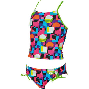 Arena - Girls Tankini Swimsuit Marble Jr