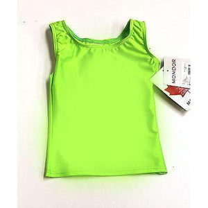 Gymnastics Tank Top Mondor Racer Back 7837 Lime Green or Bright Pink Lycra