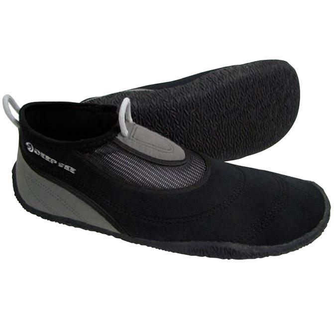 Mens Water Shoes Aqua Sphere Beach Walker 2.0 Black Grey 2 mm Neoprene