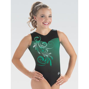 GK Elite Sportswear - Gymnastics Leotard / Bodysuit Evergreen Effect (E3957)