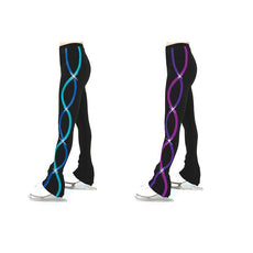 Womens Skating S103 Ribbonette Leggings 2 Colors Sizes Youth 6-8 to AL