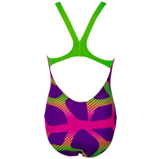 Arena Girls One Piece Swimsuit Spider Mirtilla Leaf