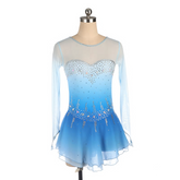 Blue Ombre Competition Figure Skating Dress Mesh Sleeves BSU2682.8