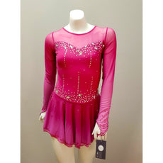 Competition Skating Dress Pink Ombre Long Sleeves BSU2282