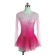 Fuschia Ombre Competition Skating Dress Crystal Design BSU12062.P