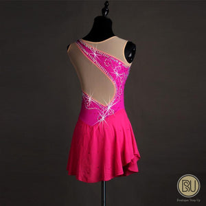 Figure Skating Dresses Rhinestones Magenta, From AXS to AXL, SU6014