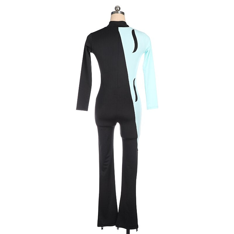 Figure Skating Catsuit Unitard Long Sleeves Available in 10 + Colors