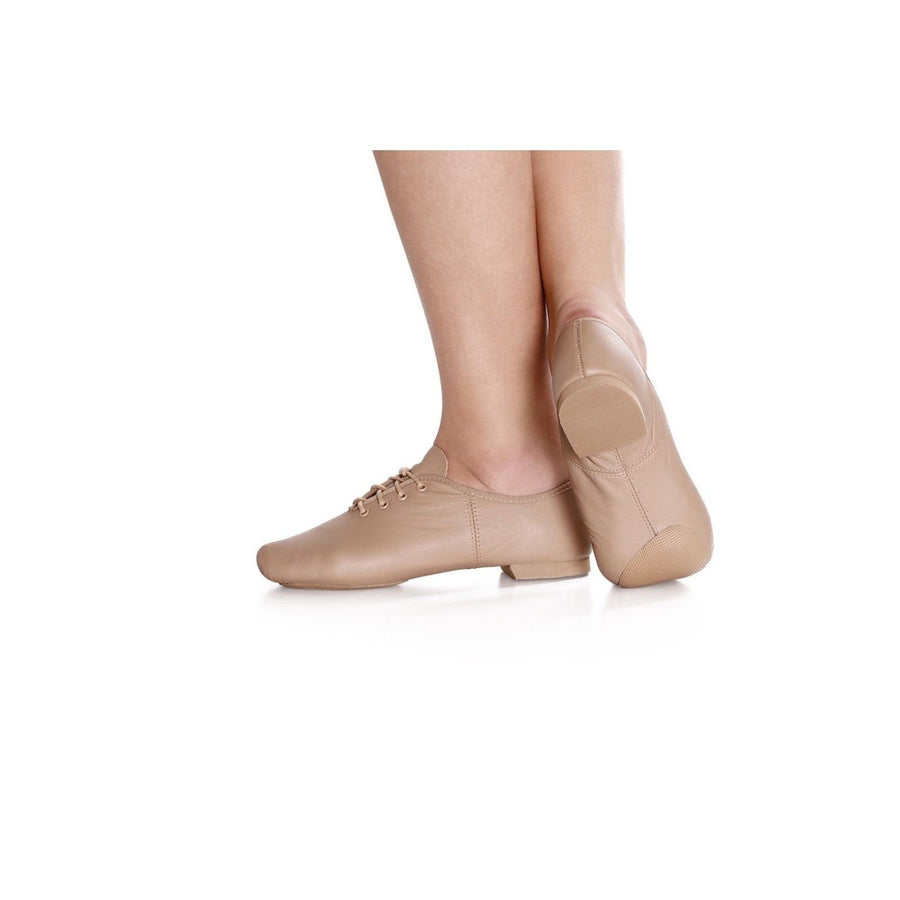 So Danca Dance Class Jazz Shoes JZ-09 JZ09 Caramel M width Lace-Up Leather