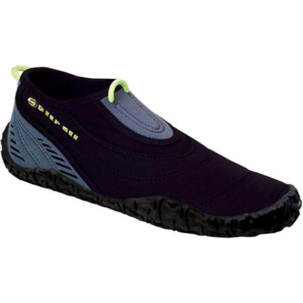 Kids Water Shoes Aqua Sphere Beach Walker Black Lime 2 mm Neoprene