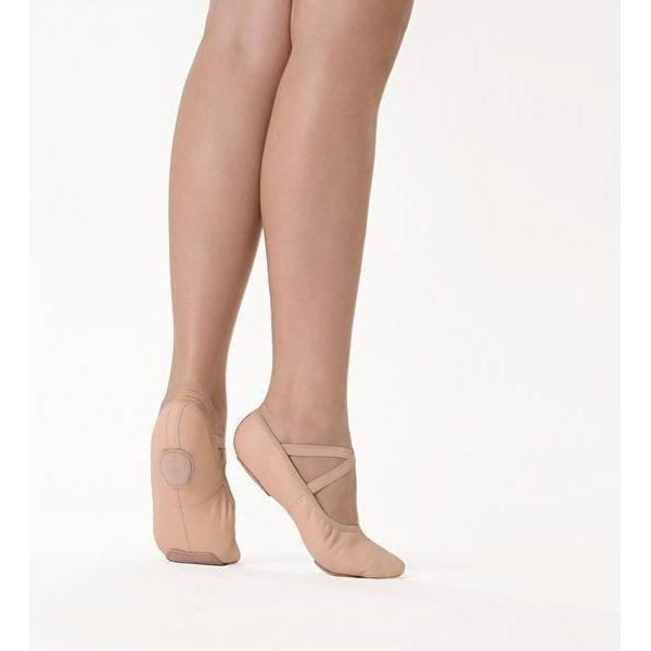 SD60L B So Danca Ballet Slippers Split Sole Leather Light Pink