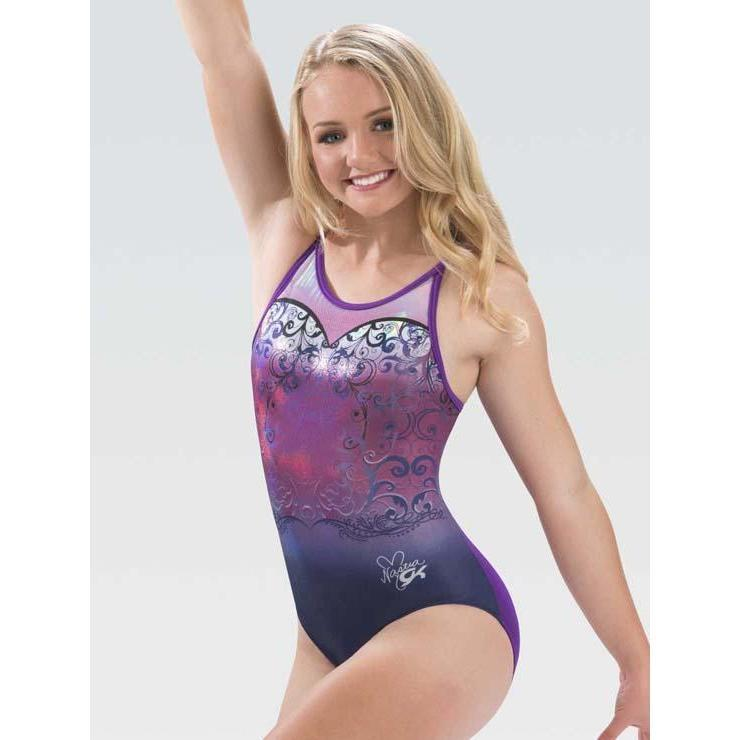 GK Elite Summer Gymnastics Leotard Butterfly Flow
