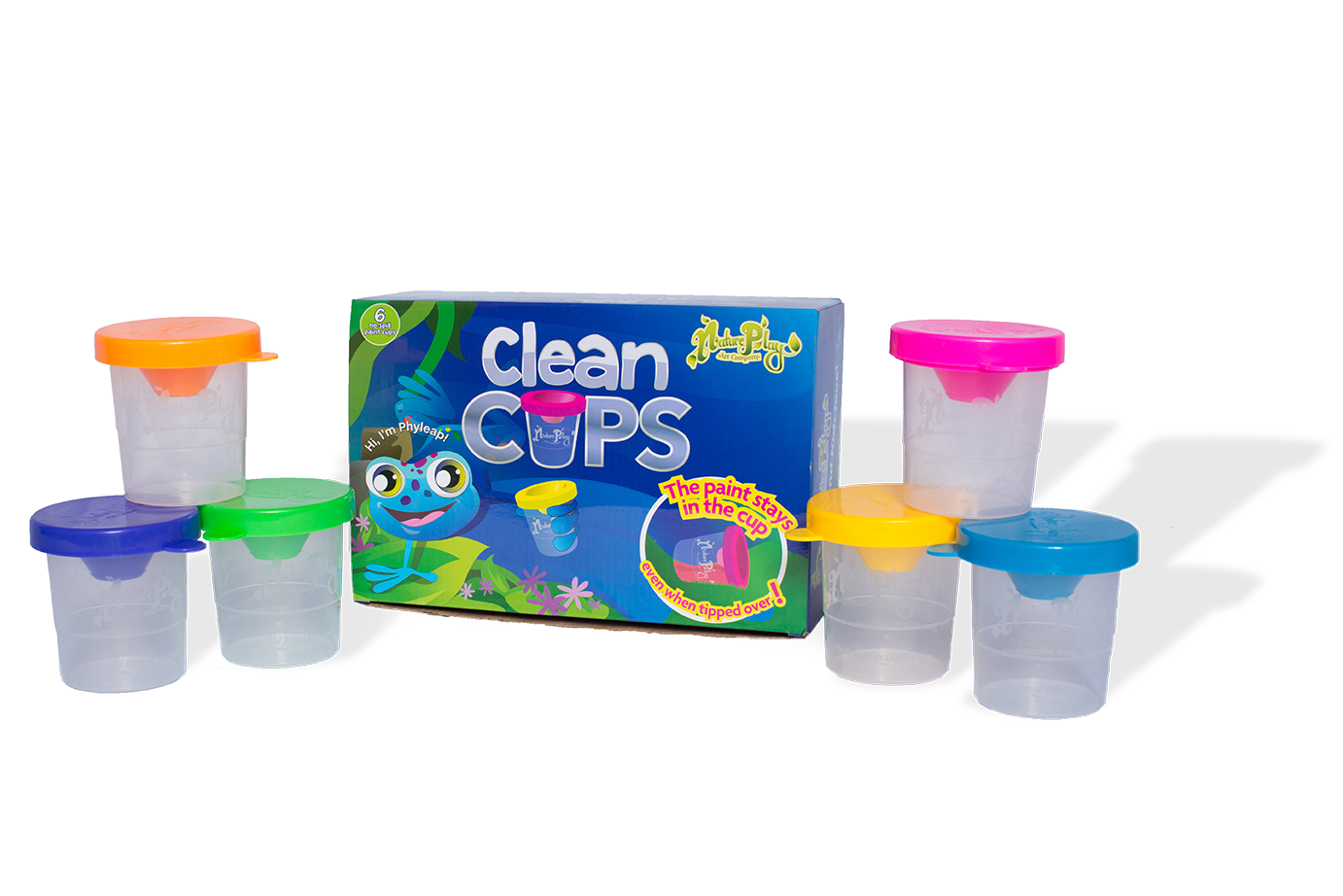 Clean Cups - No Spill Paint Cups - 6 cups per box