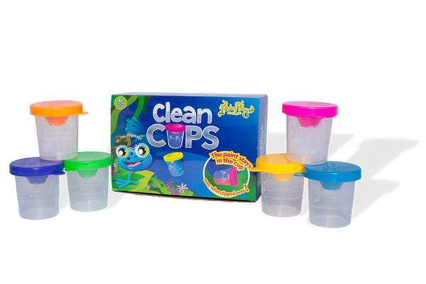 "No Spill Paint Cups ""Clean Cups"""